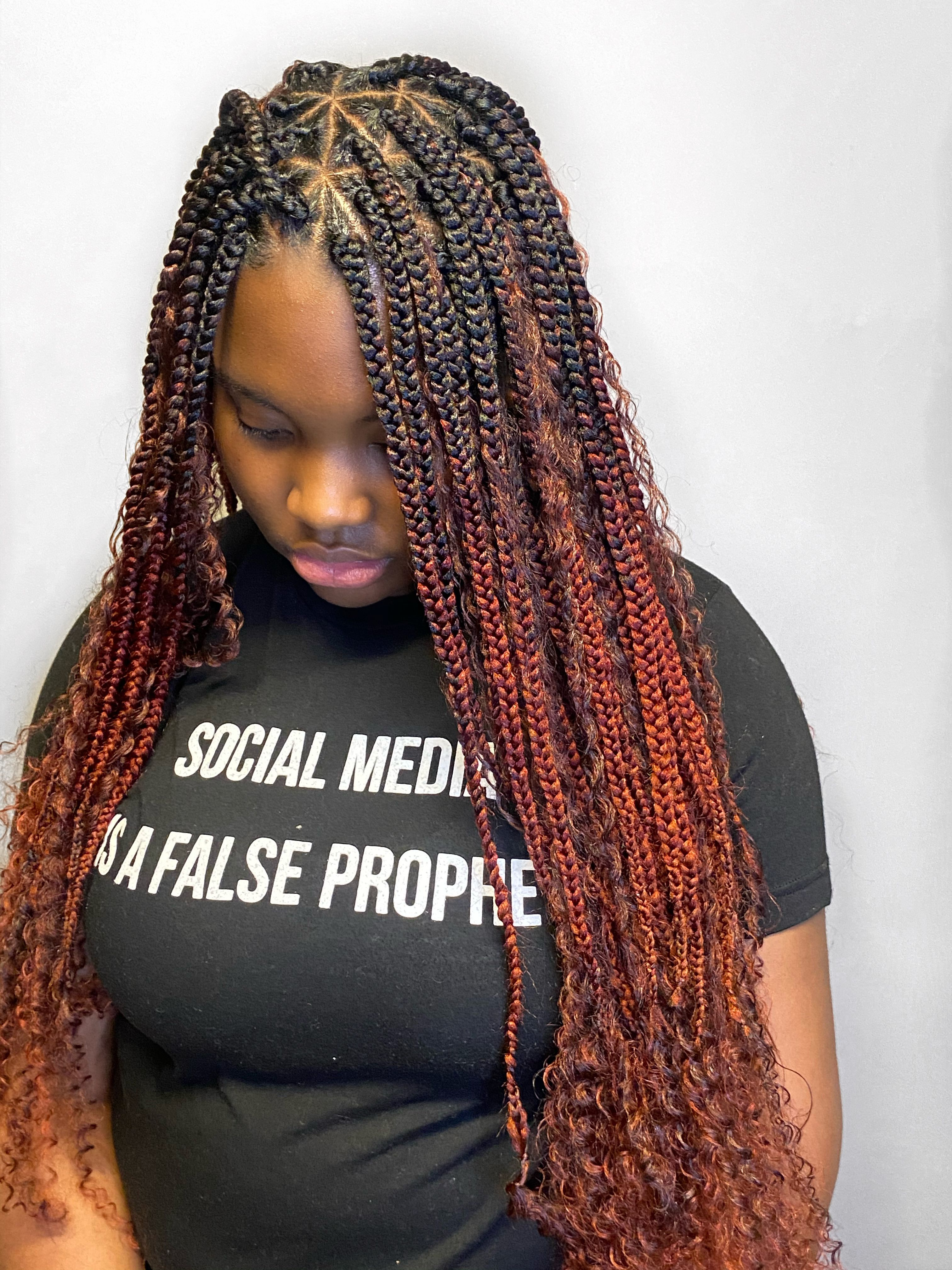 #boxbraids #triangleparts #protectivestyle