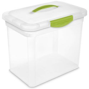 Plastic Storage Boxes With Hinged Lids 3 Qt