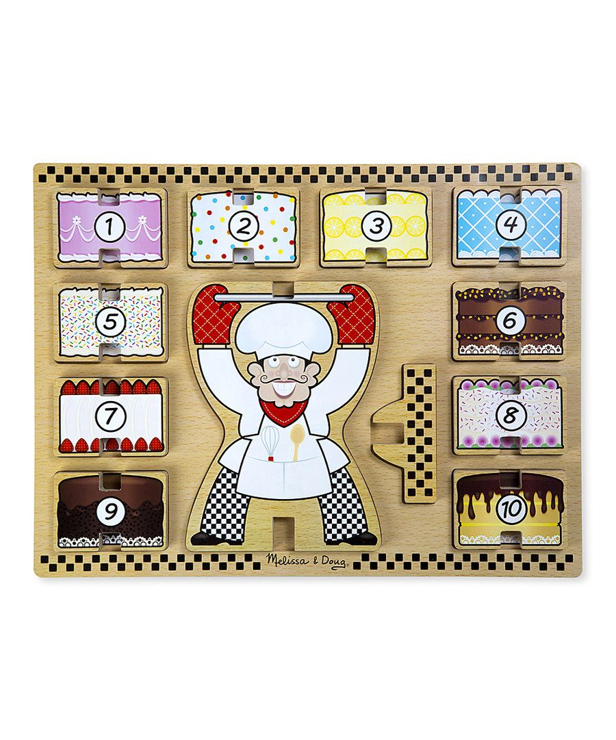 Look at this melissa doug counting cakes stacking wooden