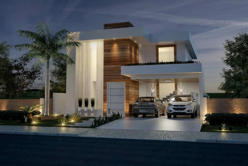 Home Design 12x30 Meters 4 Bedrooms Home Design With Plansearch Architecture House Facade House Modern House Exterior