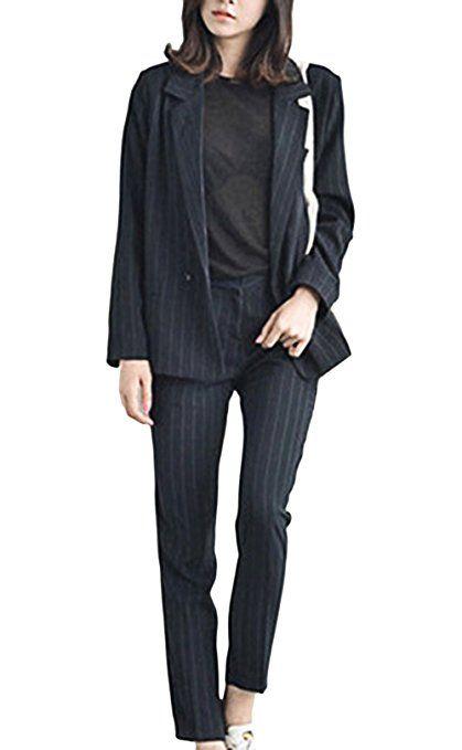 SUCES Damen Elegant Business Anzug Set Mode Klassischer Slim Fit Taillierter Blazer und Kleid Kombinationen