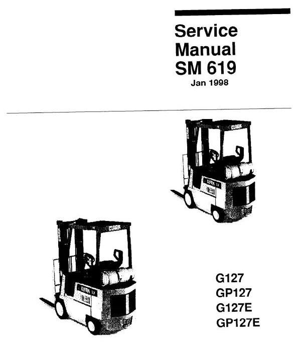 clark lpg forklift truck type g127 gp127 g127e gp127e gcs gcx rh pinterest co uk