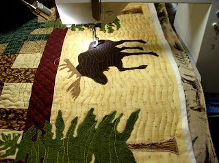 Moose Lodge        Quilting the Border | My Free Motion