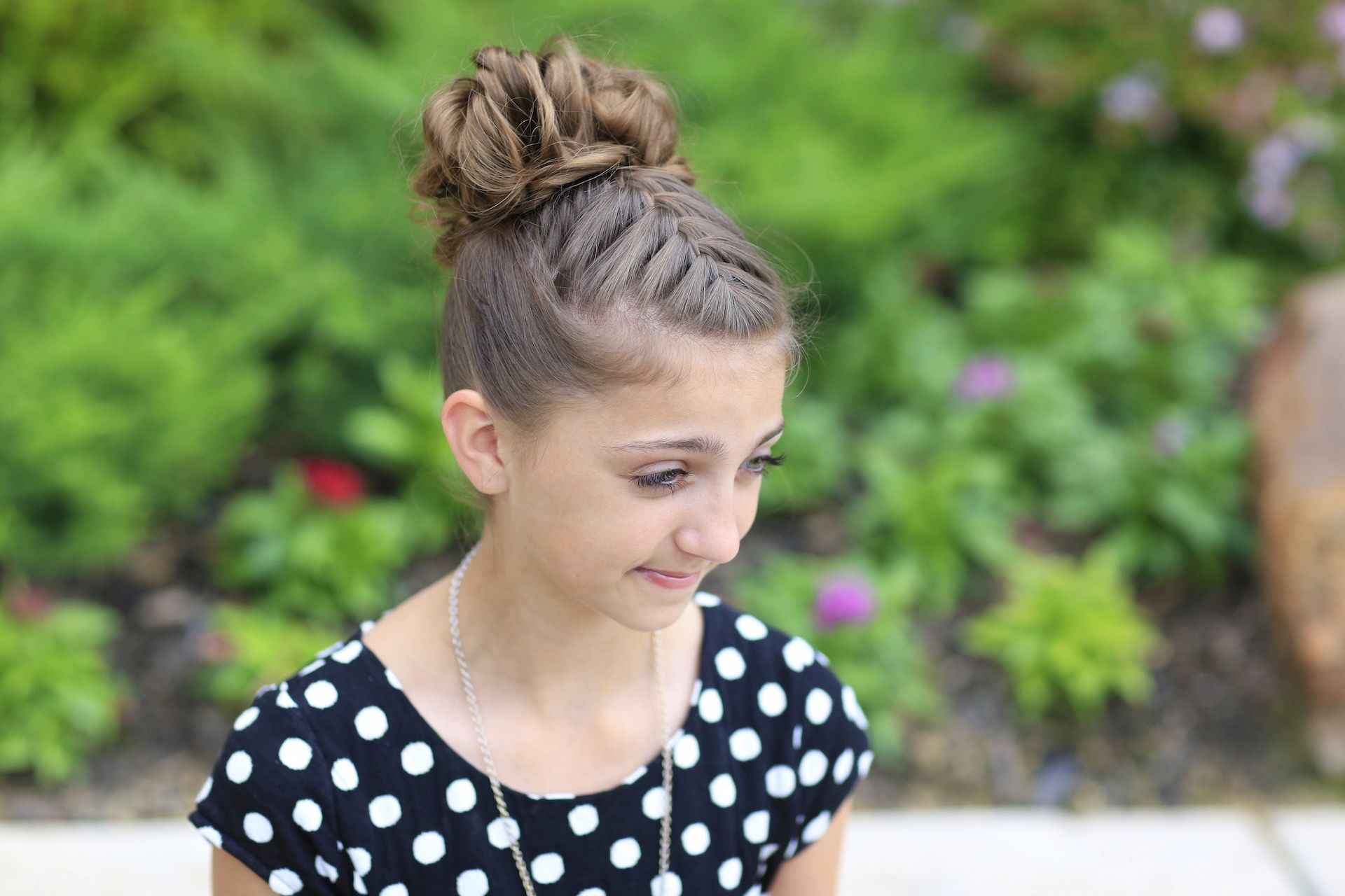 Doublefrench messy bun updo pinterest updos bun updo and girl