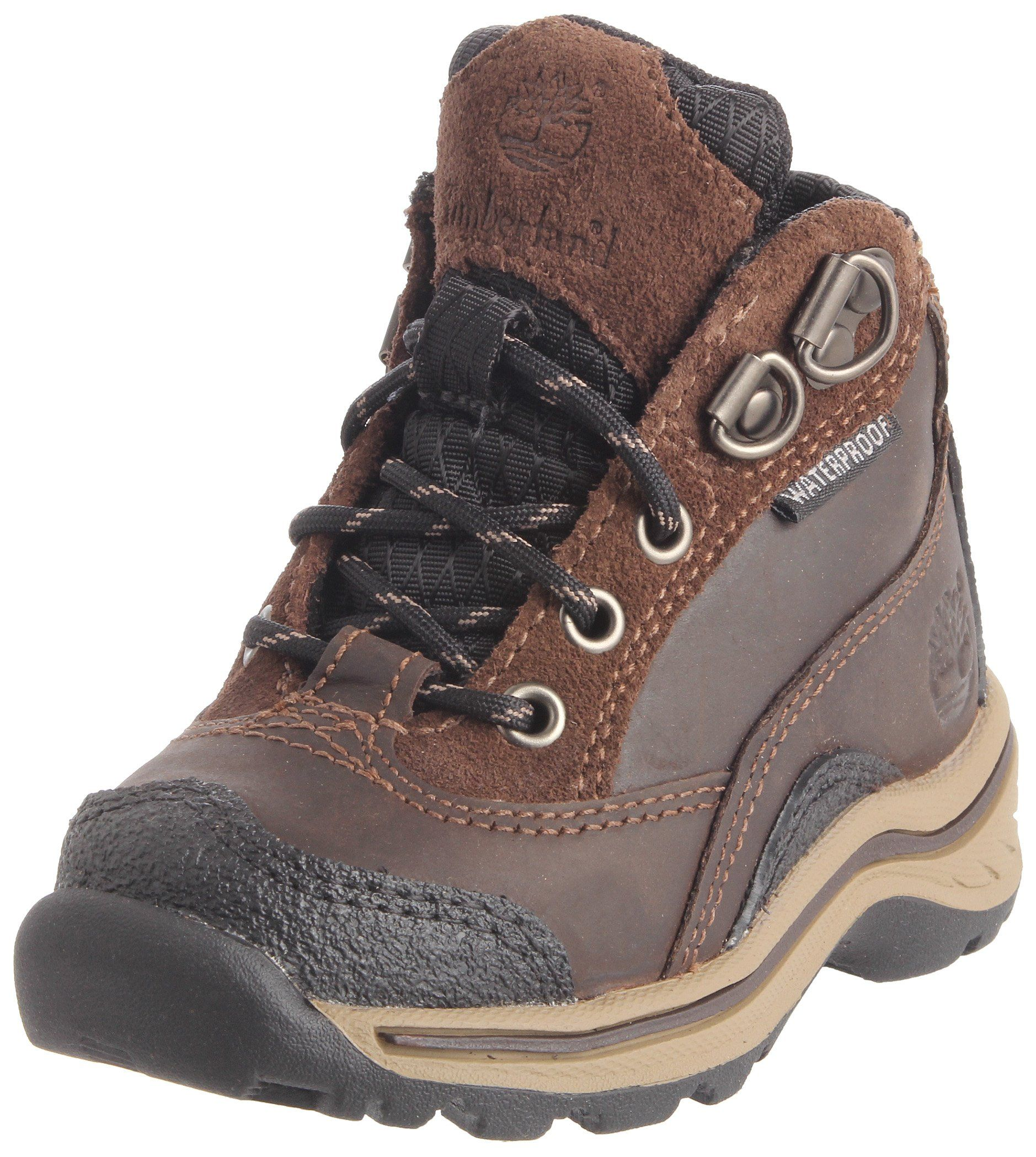 Timberland Pawtuckaway Lace Hiker (Toddler/Little Kid/Big Kid),Brown,.  Ethylene Vinyl AcetateWaterproof Hiking BootsKid ...
