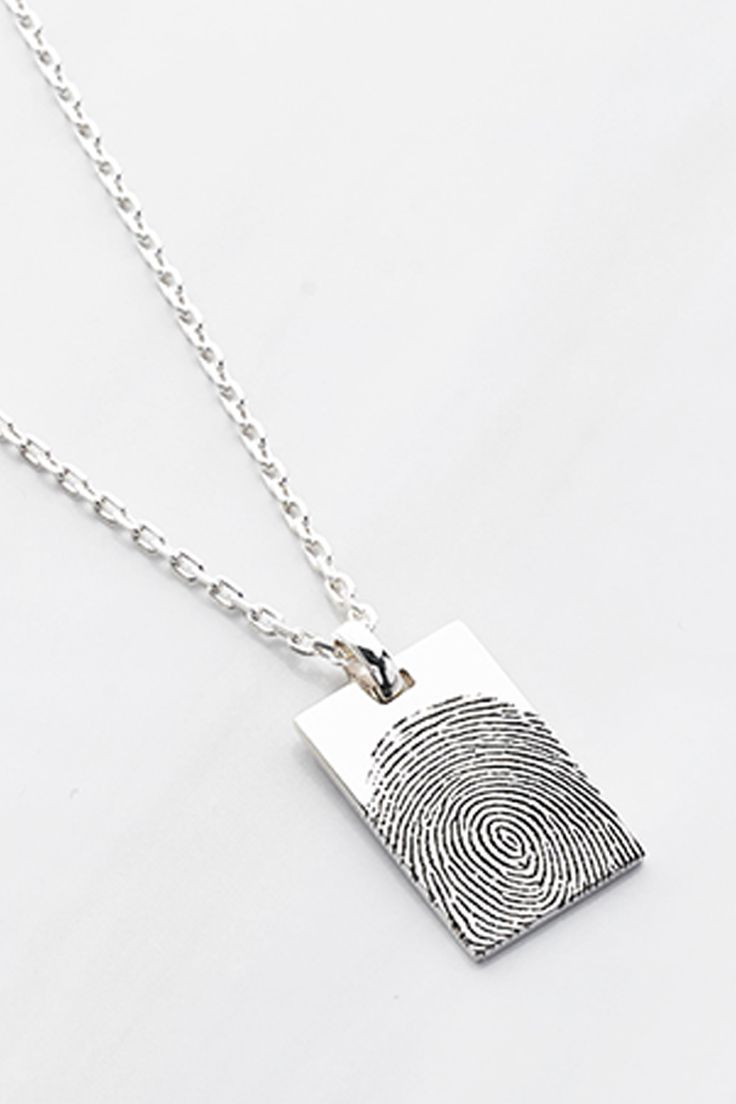 silver bar market memorial product or pendant fingerprint necklace jewelry