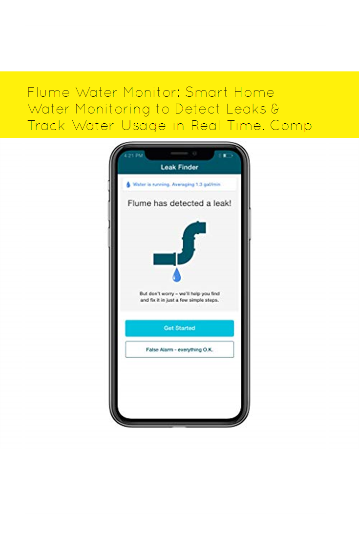 Flume Water Monitor Smart Home Water Monitoring To Detect Leaks Track Water Usage In Real Time Compatible With Alexa Cool In 2020 Water Monitor Water Usage Leaks