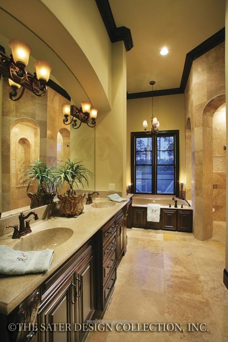 nice 82 Luxurious Tuscan Bathroom Decor Ideas cooarchitecture.c ...