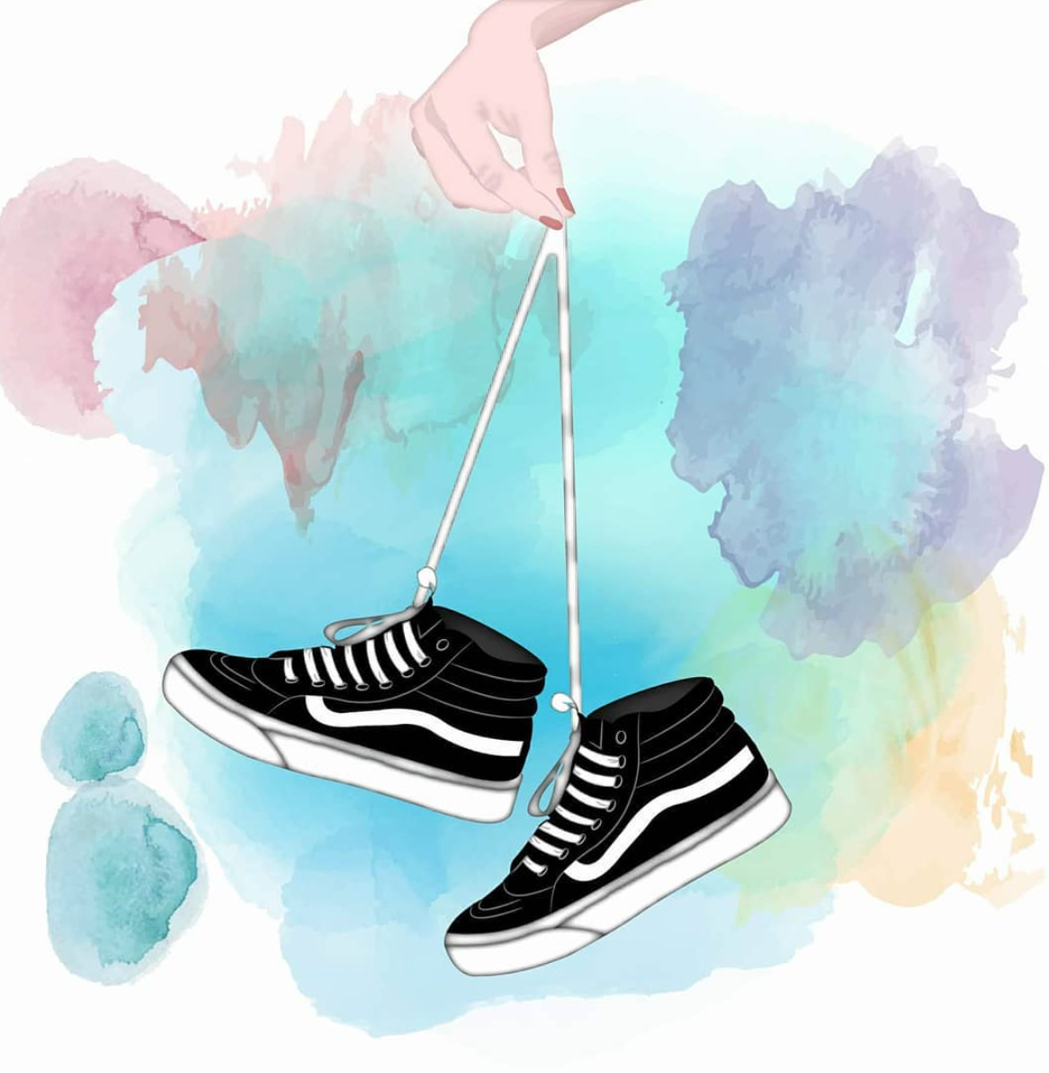 Your Weekly Art Fix By Mm Illustration With Images Sneakers Illustration Iphone Wallpaper Vans Vans Girls
