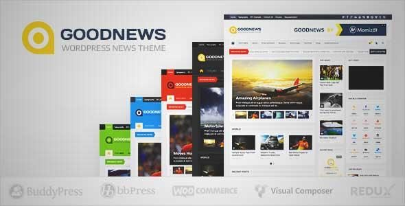 Download and review of Goodnews – Responsive WordPress News/Magazine ...