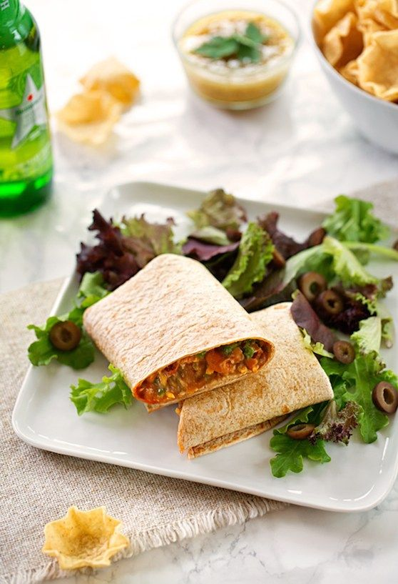 Easy Vegan Bean Burritos
