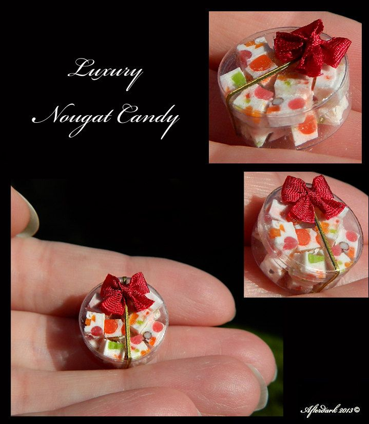 Luxury Nougat Candy - Artisan fully Handmade Miniature in 12th scale. From After Dark miniatures.