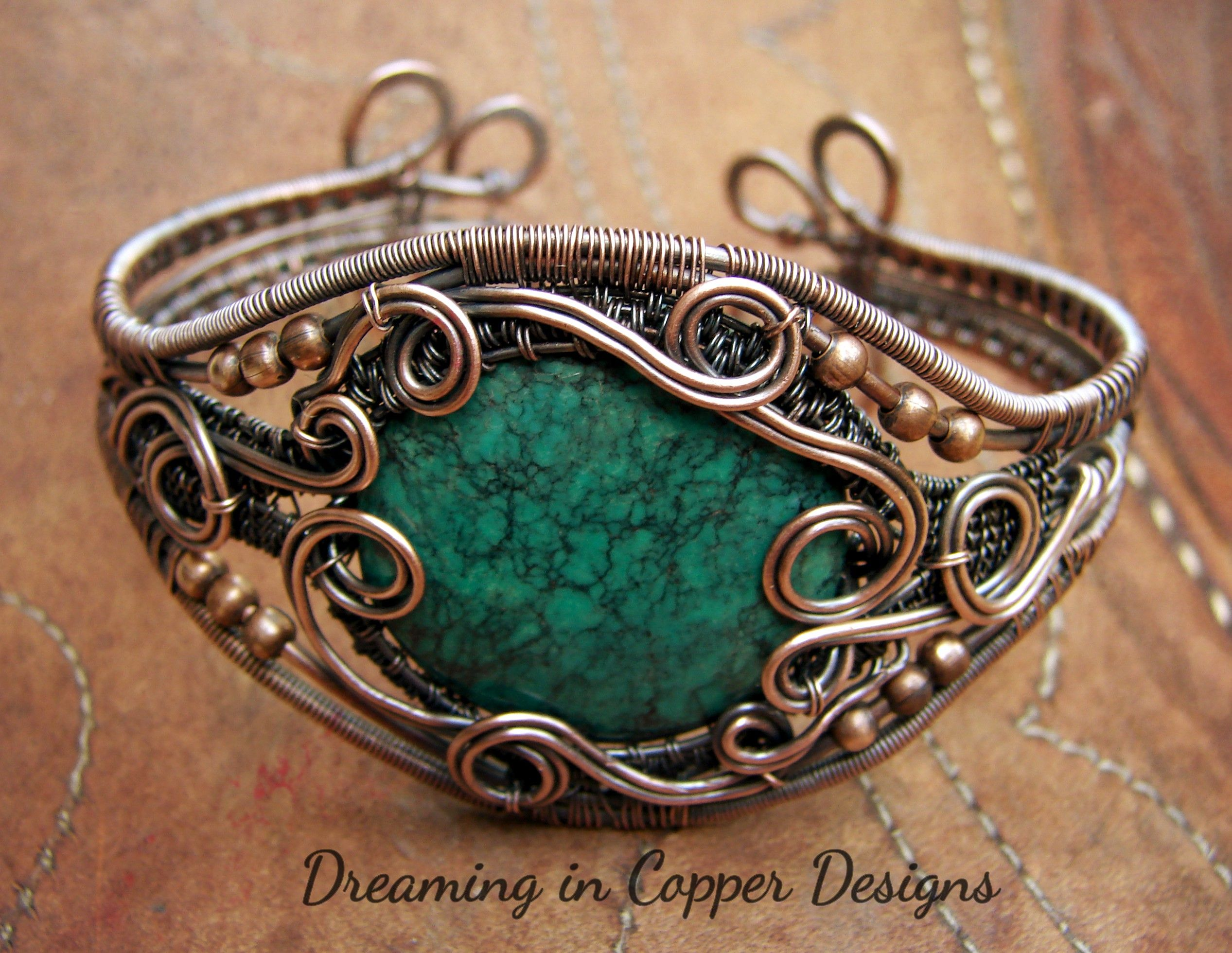 Turquoise and copper, so gorgeous together. By Dreaming in Copper ...