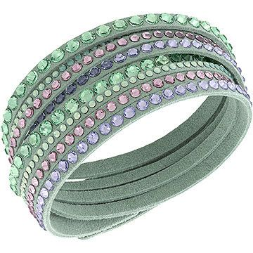adf8d79ace183 Glittering in fresh pink crystal colors, this Slake bracelet is perfect for  spring. The light pink Alcantara® bracelet wraps comfortably around your  wrist ...