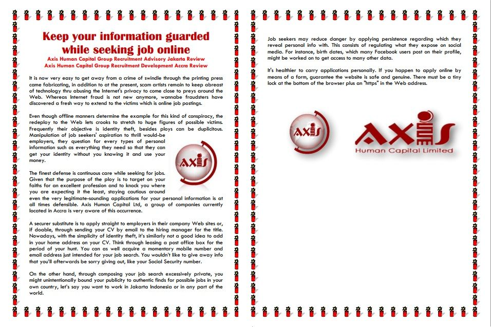 Keep your information guarded while seeking job online Axis Human
