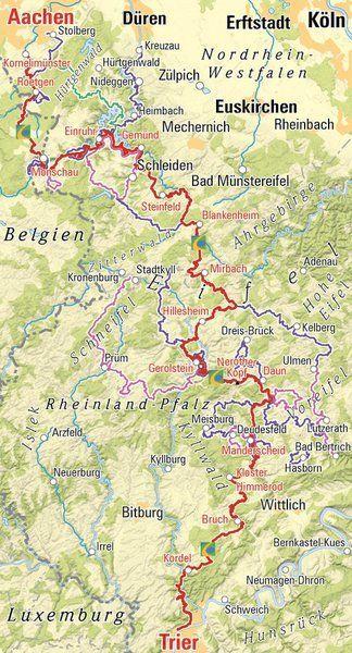 Eifelsteig De Eifelsteig Karte Kirsten Schulz Eifelsteig