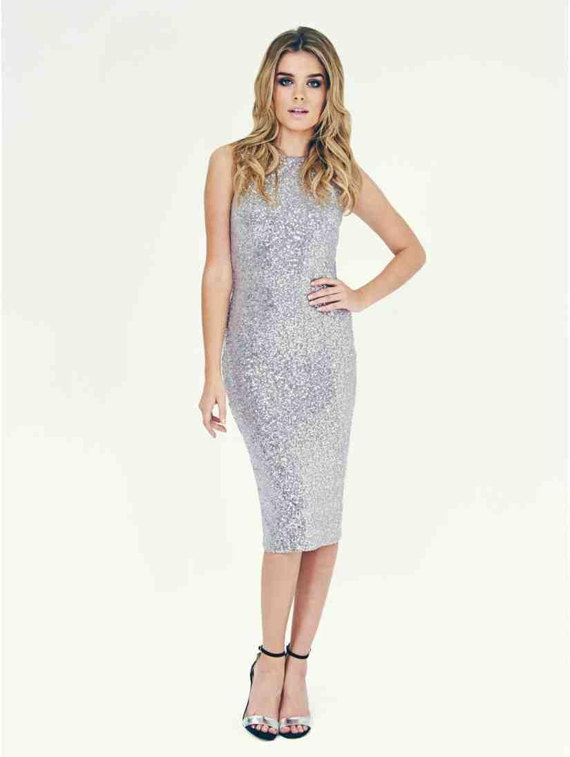 08ee62e4d8 Sequin Midi Dress