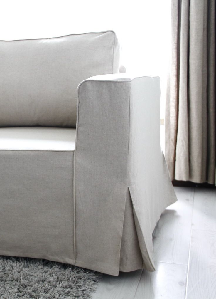 Loose fit linen Manstad sofa slipcovers now available | DIY ...