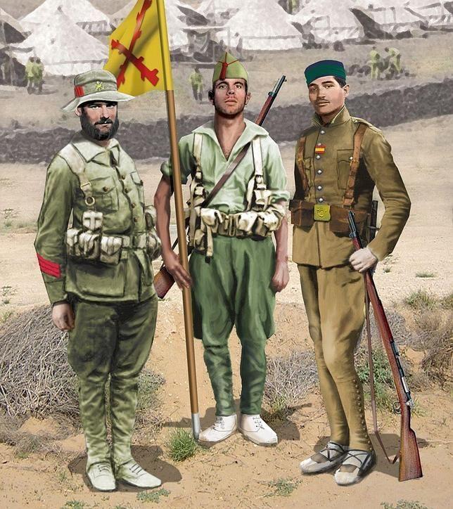 Legiondibujo 644x724 Uniformes Militares Españoles Uniforme Ejercito Español La Legion Española