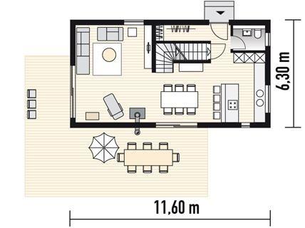 kompaktes fertighaus planmaterial fertighaus aus holz grundriss haus schmales haus ideen. Black Bedroom Furniture Sets. Home Design Ideas