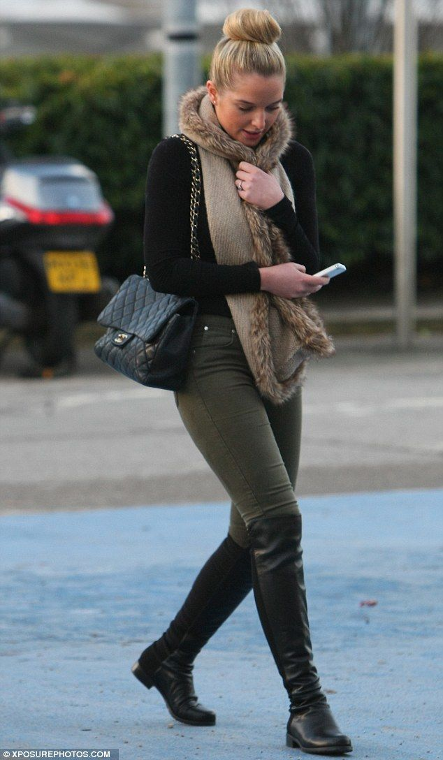 Swapping the jungle for the footie pitch: Helen Flanagan scores ...