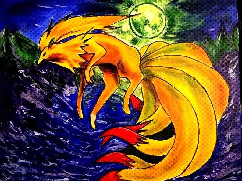 Paintings made by Rita Rocket -Pokemon Paintings made by Rita Rocket -  Morpho + Luna Jemma Mirage