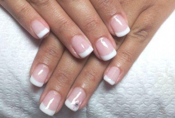 Tutorial French Manicure Gel semipermanente FOTO French Manicure Rosa,  Unghie Con French Manicure, Unghie