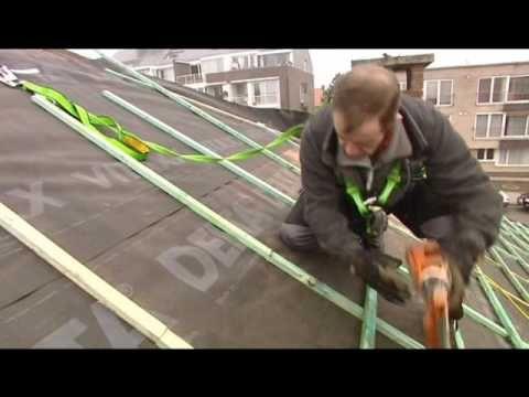 Overzetdak geplaatst over een leien dak met Coversys