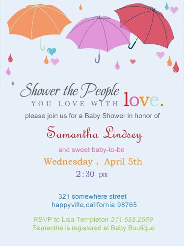 three umbrella baby shower invitations hpbs245 shower invitations