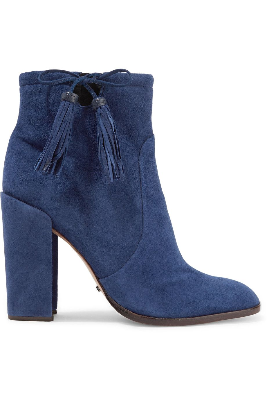 Ankle · SCHUTZ Bishop tasseled suede ankle boots.