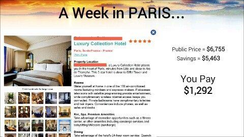 5 Star Week in Paris for $1300