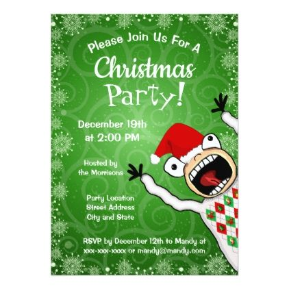 Funny Christmas Party Invitation Party gifts and Invitation ideas