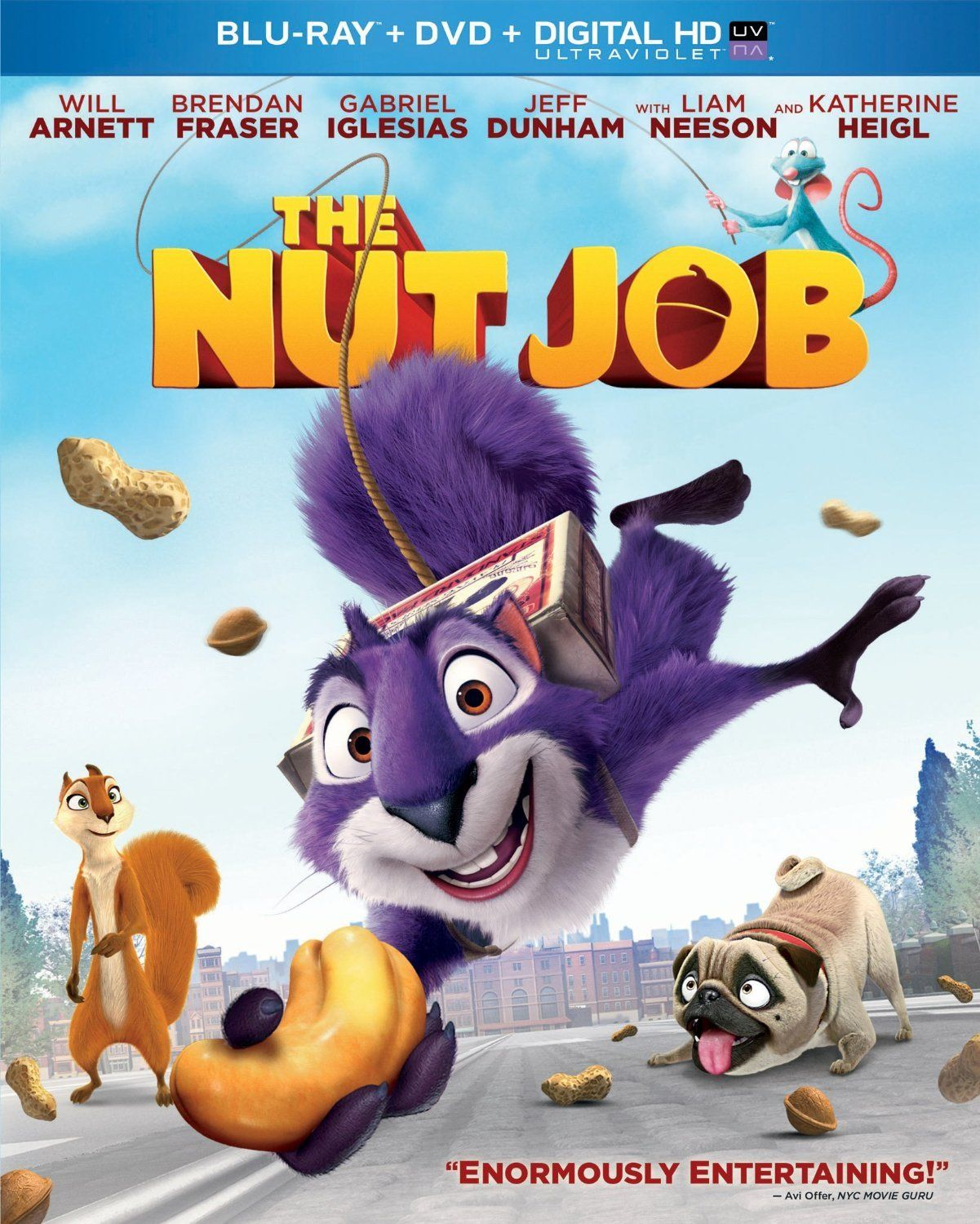 The Nut Job 2014 Hindi Dubbed Brrip The Nut Job Will Arnett Animated Movies