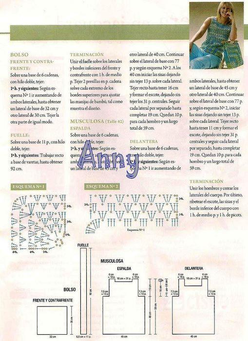 Uncinetto d\'oro: Tunica e borsa. | Blouses | Pinterest | Crochet and ...