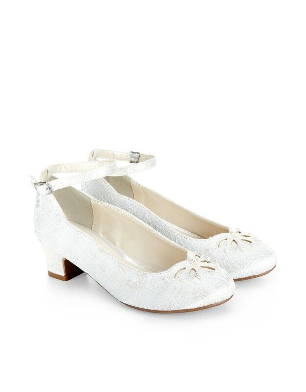These Monsoon cha-cha shoes for girls` are a grown-up choice for occasion  wear. Decorated with cut-out petals and embellished with glossy faux-pearl  beads, ...