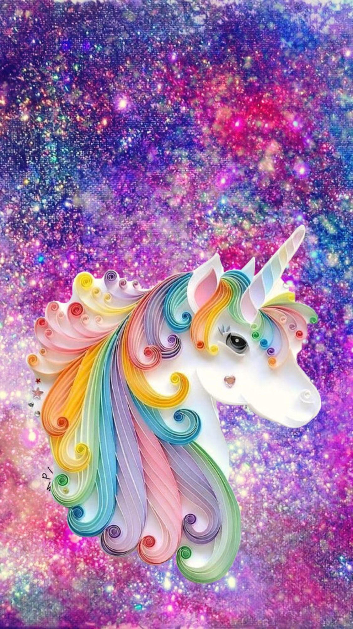 Unicorn With Sparkle Background With Images Unicorn Painting