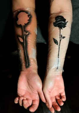 Blackout Rose Tattoo for Mother and Son - Mother Son Tattoos - Mother Tattoos - MomCanvas