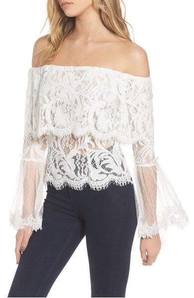 ae4136e59f425 This is not a freepeople top- StyleKeepers If You Dare Lace Off the Shoulder  Blouse