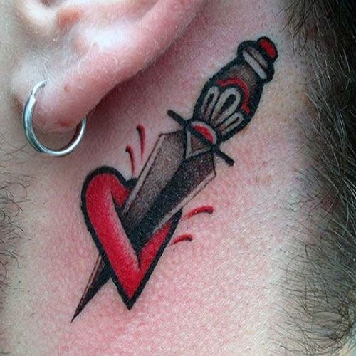 Heart Tattoos For Men Best Designs And Ideas Of 2019 Neck Tattoo Heart Tattoo Tattoos For Guys