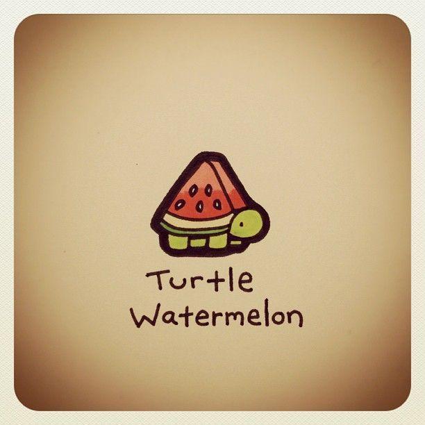 Turtle Watermelon Turtleadayjuly