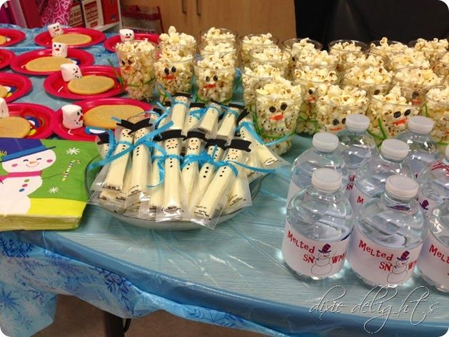 Classroom Party Ideas ~ Class playdate christmas party ideas snowman themed