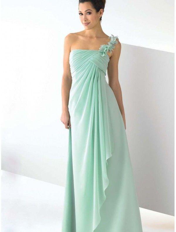 Chiffon One-Shoulder Strap Empire Bridesmaid Dress  46eb45ad3ffb