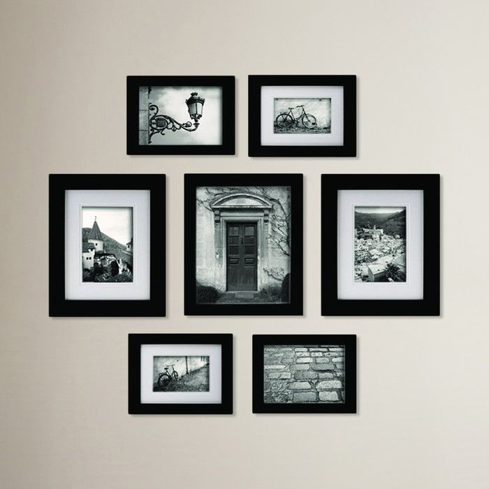 Morell Blackstone 7 Piece Gallery Snapshot Picture Frame Set ...