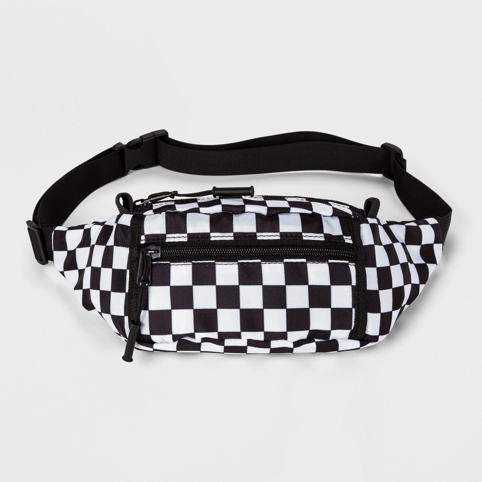 7d6f07d74c79 Boys  Checker Fanny Pack - art class Black