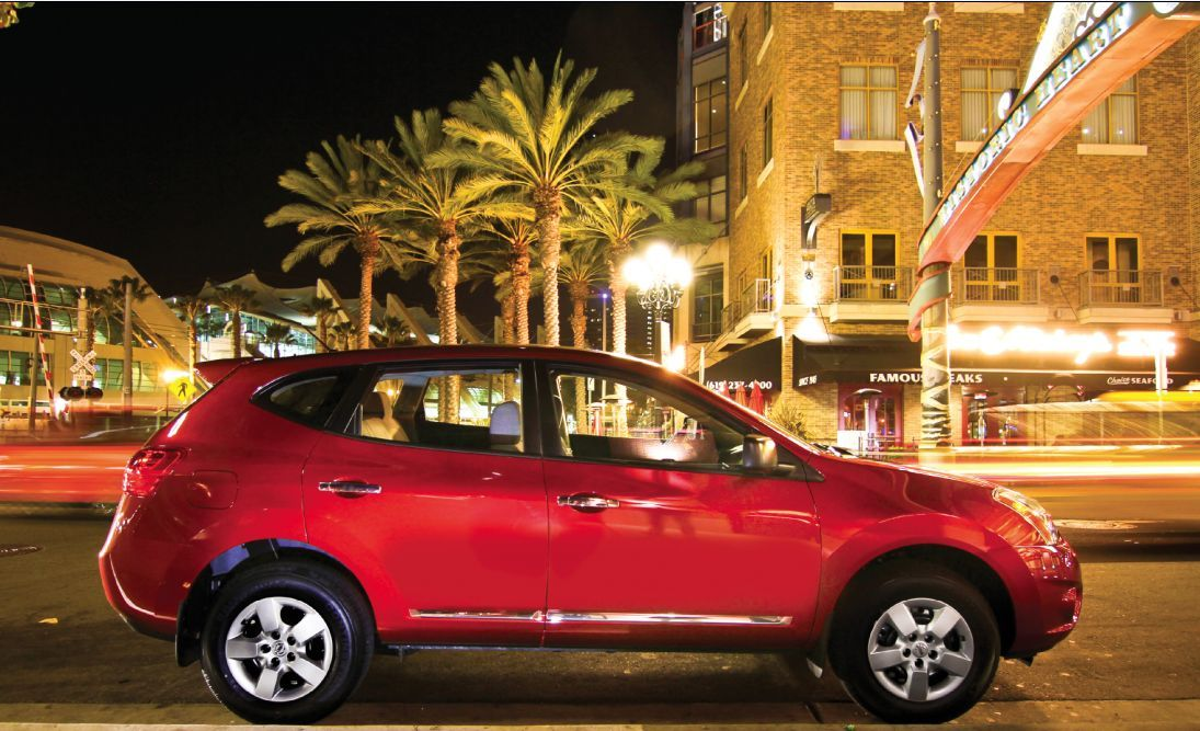 2012 nissan rogue in front of the san diego convention