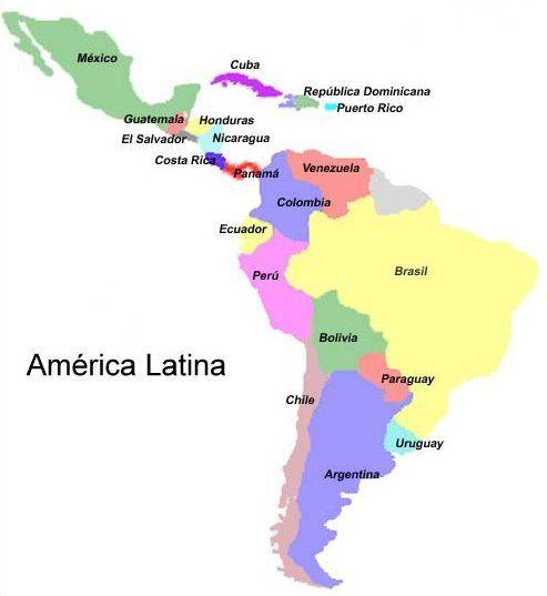 Buenos Aires Montevideo Asunción La Paz Santiago Lim By Monica Latin America Map América Latina Spanish Teacher Classroom