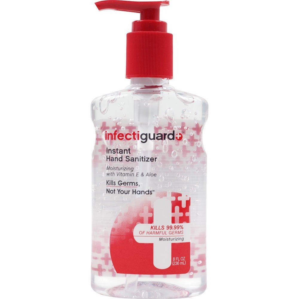 Infectiguard Instant Hand Sanitizer Pump 8 Ounce Beauty