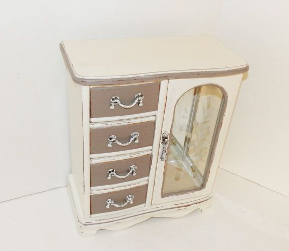 Ladies Girls Painted Jewelry Box Upcycled Jewelry Armoire Annie