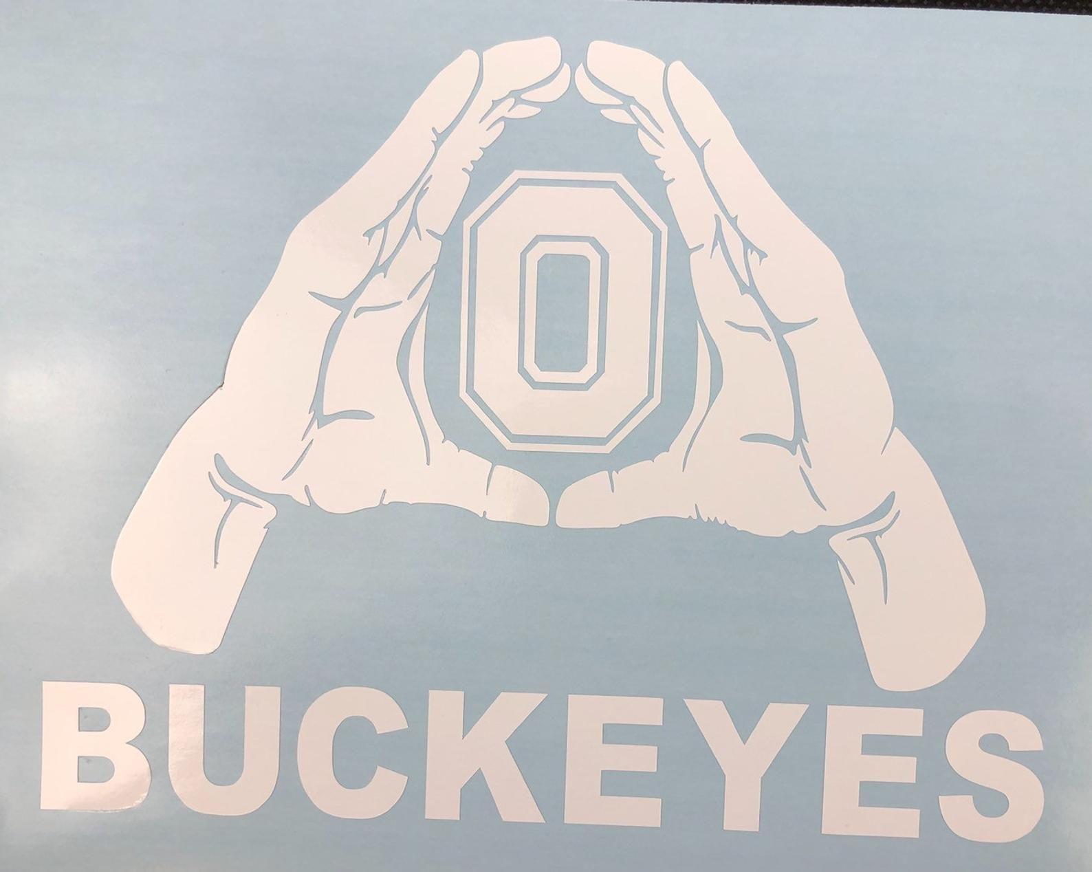 Ohio State Buckeyes Block O Hands White Vinyl Decal Etsy Ohio State Ohio State Buckeyes Buckeyes [ 1268 x 1588 Pixel ]