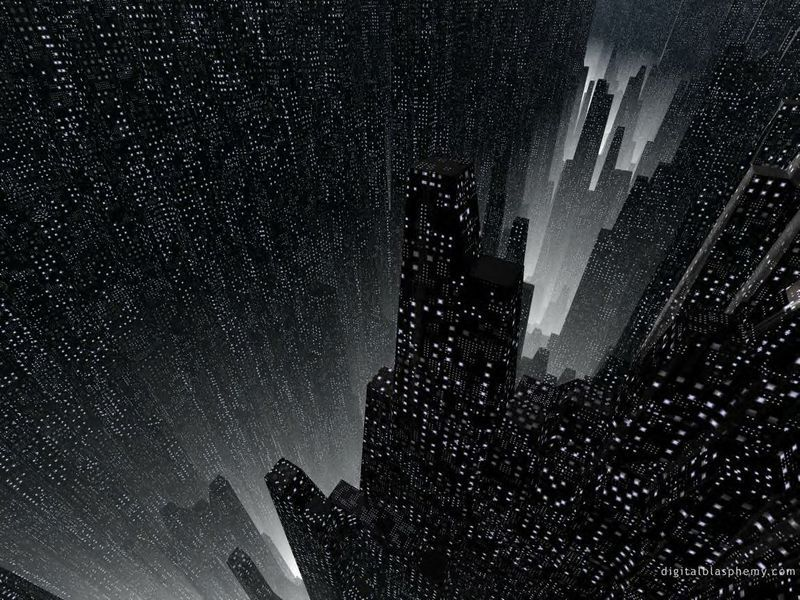 Dark City Abstract Image Picture And Wallpaper Science Fiction Dystopia Future Noir Blade Runner Cyberpunk Night Skylines Metropolis